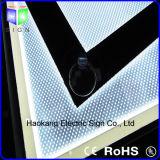 Casella chiara di alluminio magnetica della cornice del blocco per grafici con il segno