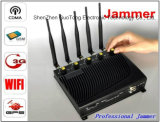Signal Jammer Handy WiFi GPS 3G Signal Jammer Five Bands Adjustable Output Power Signal Jammer 50m Desktop