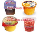 자동적인 규격에 맞게 자르는 포일 요구르트 컵 채우는 밀봉 기계