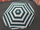 녹색 백색 줄무늬 화포 바닷가 안뜰 야드 5 ' 우산