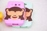 A tampa Eyes a caixa do telefone de pilha do silicone do macaco para Samsung S4 S5 S6 S7edge (XSDW-009)
