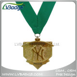 Medaglia su ordinazione del metallo del premio di sport dell'oro con il regalo del ricordo