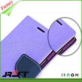 Cassa del cuoio del telefono mobile dell'unità di elaborazione del coperchio completo per Samsung S6