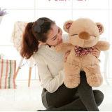 Fördernder kundenspezifischer Firmenzeichen-Teddybär mit gestricktem Shirt-weichem angefülltem kundenspezifischem Plüsch-Bären