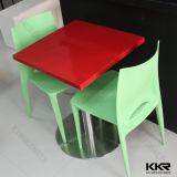 De glanzende Rode Marmeren Eettafel van de Steen van de Oppervlakte Kunstmatige