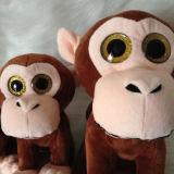 Giocattolo di seduta molle della grande degli occhi del Peeper nuova di disegno scimmia della peluche