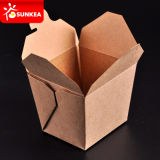 밖으로 Microwaveable 중국 Take Paper Fast Food Boxes