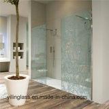 Het aangemaakte Gevormde Glas van de Badkamers