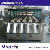 Agua pura automática del barril 5 galones que lavan la máquina que capsula de relleno