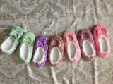 7つのカラー女性の粒子ヤーンの屋内靴