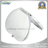 Promoção Espelho de maquiagem de metal portátil cromado polonês em branco
