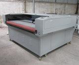 Doppia tagliatrice del laser delle teste dell'indumento e del cuoio con l'alimentatore automatico 180*1000mm