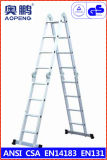Telescopische Ladder van het Aluminium van de Uitbreiding van de Kruk van de Stap van het Huishouden van het staal de Uiteindelijke (ap-404)