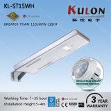 Luz de rua solar Integrated do diodo emissor de luz da alta qualidade do preço de fábrica