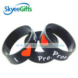 Debossed Color Filled Silicone Wristbands con Customerized Design