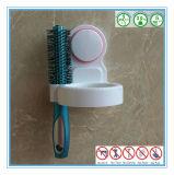 Wand Mouted ABS weißes Haartrockner-Regal mit Silikon-Gummi-Absaugung-Cup