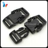 Hebilla plástica del desbloquear lateral rápido negro de encargo para el equipaje