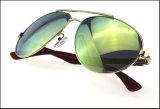 Óculos de sol espelhados amarelos Funky personalizados loucos do metal da lente da ressaca