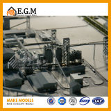 De Modellen van de tentoonstelling/de Industriële en Modellen van de Planning Modellen/Urban&Master van de Workshop