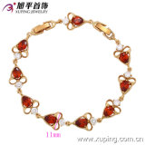73129 nouveau Coeur-Shaped Zircon Jewelry Bracelet d'Elegant d'Or-Plated d'Arrrival Fashion 18k pour Gift de Lady