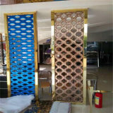 Stanza Divider Panels del laser Cut Screen con Bronze Gold Rosa Goldblack PVD Color