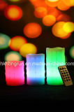 Cambia Color sin llama de la vela del LED con control remoto (HR3123C)