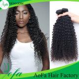 広州Aofa 100%のブラジル人のバージンの毛のねじれた巻き毛の人間の毛髪の拡張
