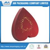 Caja de empaquetado del nuevo del estilo del corazón chocolate de lujo de la forma