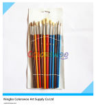 12PCS Plastic variopinto Artist Brush per Painting e Drawing