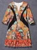 Платье партии платья лета способа женщин конструктора флористическое напечатанное
