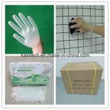 Luvas médicas descartáveis do PVC do vinil
