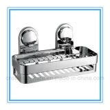 Badezimmer-Wand-Speicher-Regal-hängende Zahnstange mit Luft-Vakuumabsaugung-Cup