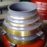 Trazador de líneas del tazón de fuente del manganeso de los recambios de la trituradora del cono alto