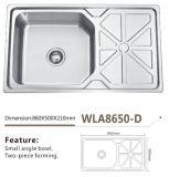 De Gootsteen wla8650-D van de Keuken van de Gootsteen van het roestvrij staal