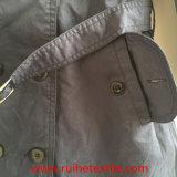 Revestimento de trincheira/sobretudo/revestimento tecidos Khaki ocasionais para mulheres