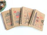 Cahier en spirale du livre À couverture dure A5 imprimé par coutume (XL-32K-TX-01)