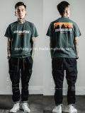 T-shirt frais de rue de mode d'impression de coton de mèche de garçons