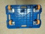 150kgs plástico azul de la tortuga de la tableta Hand Trolley con PU Caster