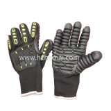 Guante anti del trabajo de los guantes de Electrodrill de los guantes del mecánico de la vibración de los guantes de TPR