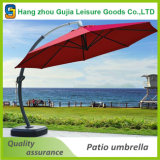 贅沢な屋外の商業広告折る庭の傘