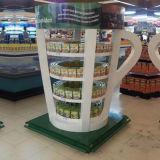 Étalage élégant de carton pour des boissons, présentoir de papier de boisson