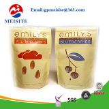 Verpacken wiederversiegelbarer Imbiss-Fastfood- Reißverschluss-Beutel-Plastikaluminiumfoliegezeichnetes überzogenes Brown-Kraftpapier
