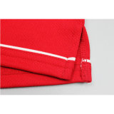 Chemises de polo rouges d'habillement bon marché d'hommes blancs en gros en bloc de plaine
