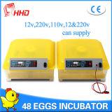 Incubateur de rotation complètement automatique modèle classique d'oeufs de 48 poulets