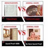 Weißes Melamin-neue Auslegung-Badezimmer-Tür