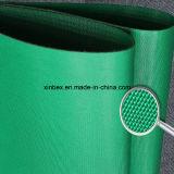 Bande de conveyeur industrielle du vert PVC/PU de polyester de tissu/fibre/coton double