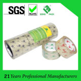 Bande adhésive claire jaunâtre transparente de cachetage de carton de la bande BOPP d'emballage