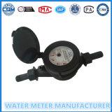 Тип счетчик воды шкалы Nylon пластичного Muti-Двигателя Dn15-20mm сухой