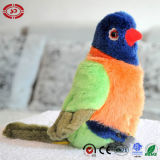 다채로운 앵무새 연약한 견면 벨벳에 의하여 채워지는 대중적인 새 장난감
