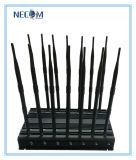 Gps-Signal-beweglicher Hemmer/Blocker, 35W 4G WiFi Handy-Signal-Hemmer/Blocker; VHF-UHF 4G 315 GPS-WiFi 433 Lojack 14 Antennen-Hemmer